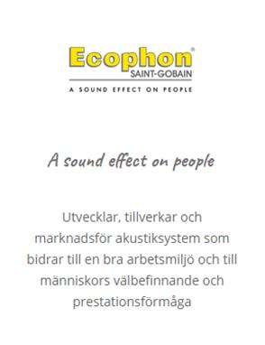 """=> <a href=""""https://undertaksportalen.se/om-undertaksbranschen/undertaksleverantorer/ecophon/"""">Ecophon</a>"""