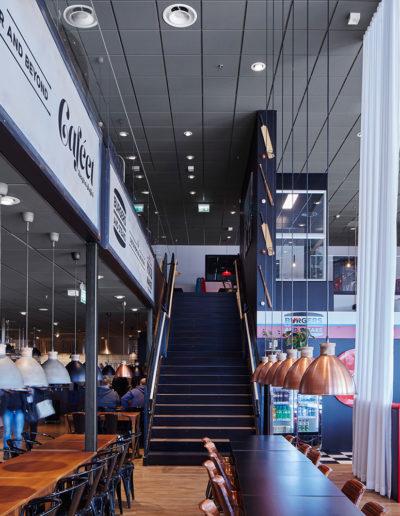 Focus E och Solo Baffle, Ecophon: Köpcentrumet Hallarna, Halmstad
