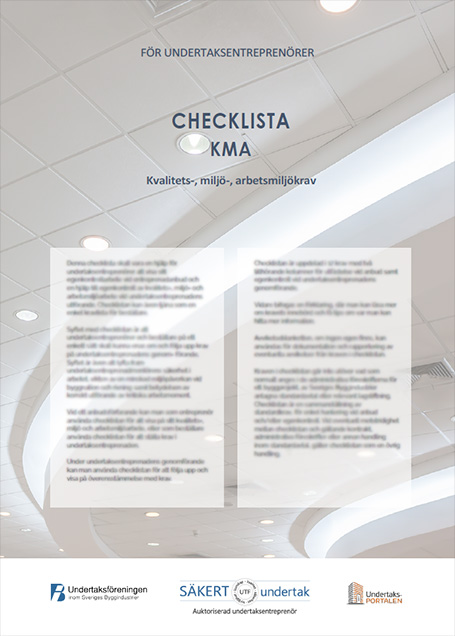 KMA-mallar för undertaksbranschen