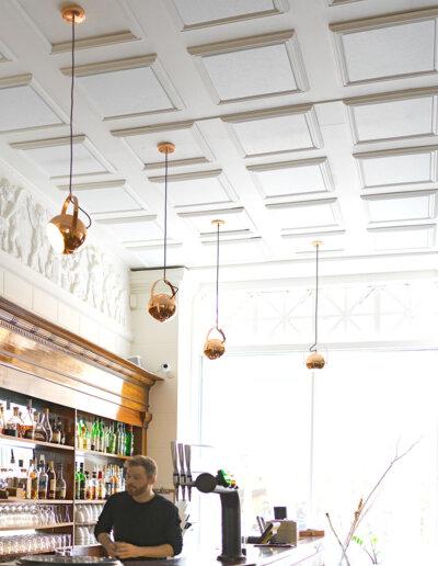 Akustikmiljö: Ecosund och Print, restaurang Kød, Köpenhamn