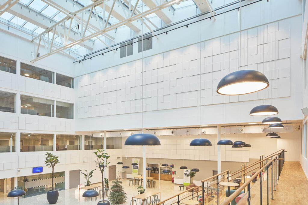 Ecophon: Focus A, Focus SQ, Master SQ och Akusto Wall - Arbetsförmedlingen, Malmö