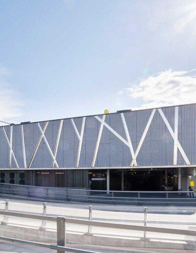 Flexplåt: Sträckmetall med stora maskor, Täby centrum, Täby