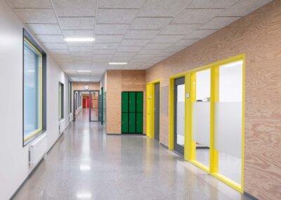 Troldtekt: Troldtekt akustikplattor i vit kulör - Djurängsskolan, Kalmar